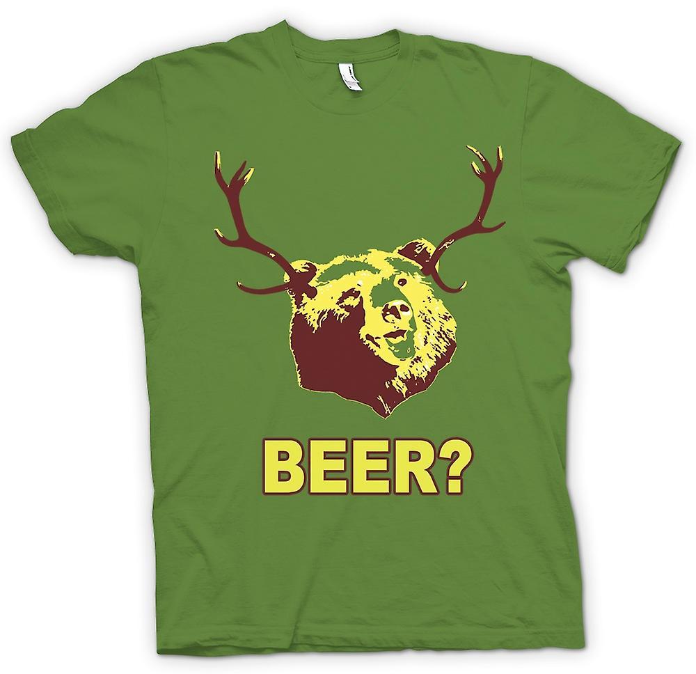 Hommes T-shirt - Bière Funny Bear Boire
