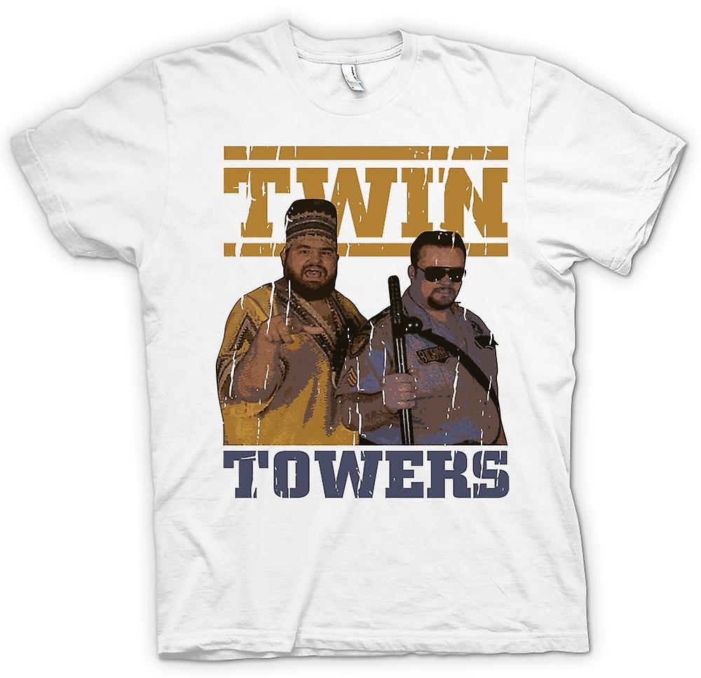 Womens T-shirt-The Twin Towers - Ringer - Big Boss Man und Akeem