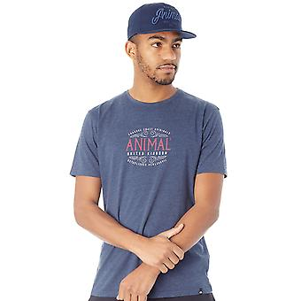 T-shirt barile animale scuro Navy Marl