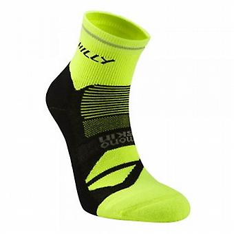 Photon Anklet Running Socks Black/Fluo Yellow