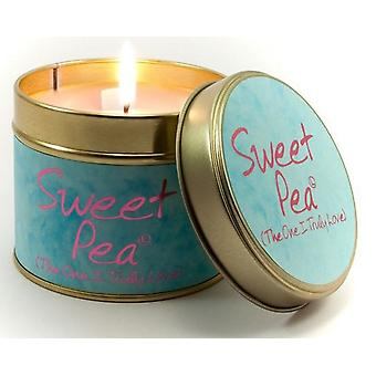 Lily Flame Scented Candle in a presentation Tin - Sweet Pea