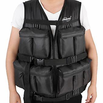 Gilet veste lesté 19 5 kg poids noir endurance sport fitness musculation 0701107