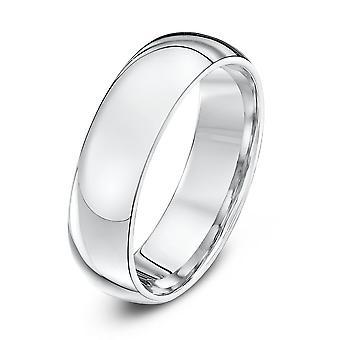 Star Wedding Rings Palladium 500 Heavy Court 6mm Wedding Ring