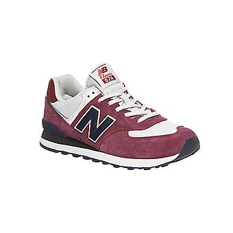 New balance shoes eye-catching men's Sneaker ML574 wine red