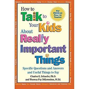 Parler aux enfants des choses importantes