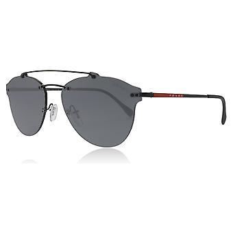 Prada Sport PS55TS 1AB5L0 Black PS55TS Pilot Sunglasses Lens Category 3 Lens Mirrored Size 59mm