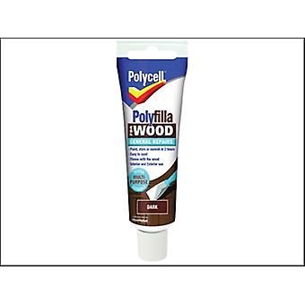Polycell Polyfilla For Wood General Repairs Tube Dark 330g