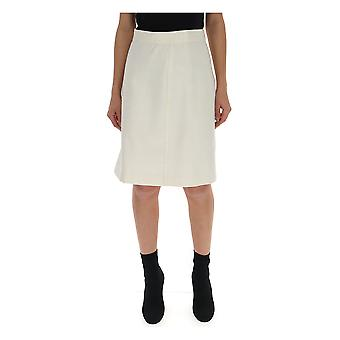 Bottega Veneta White Wool Skirt