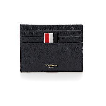 Thom Browne Blue Leather Card Holder