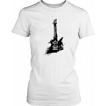 Guitare électrique Pop Art Conception Mesdames T-shirt