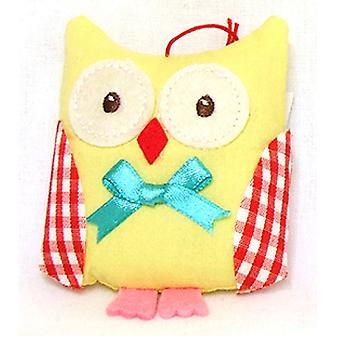 Gisela Graham Pincushion 82754 Owl Gisela Graham: Yellow 82754