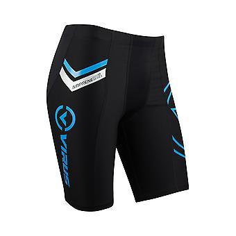 Virus Mens H201 Airprene Compression V2 Tech Shorts - Black/Blue