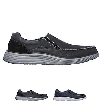 Mens Skechers Status 2.0 Mosent Lightweight Memory Foam Moccasin Shoes