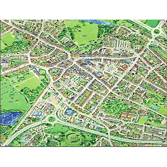Cityscapes Street Map Of Cirencester 400 Piece Jigsaw Puzzle 470mm x 320mm (hpy)
