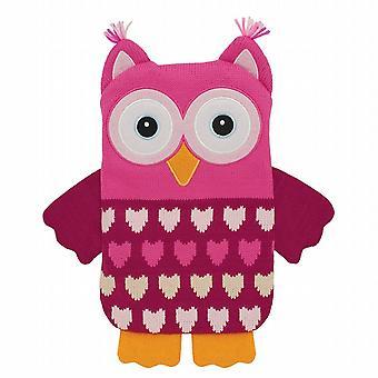 Aroma Home tricoté Snuggle Hottie corps plus chaud : rose hibou