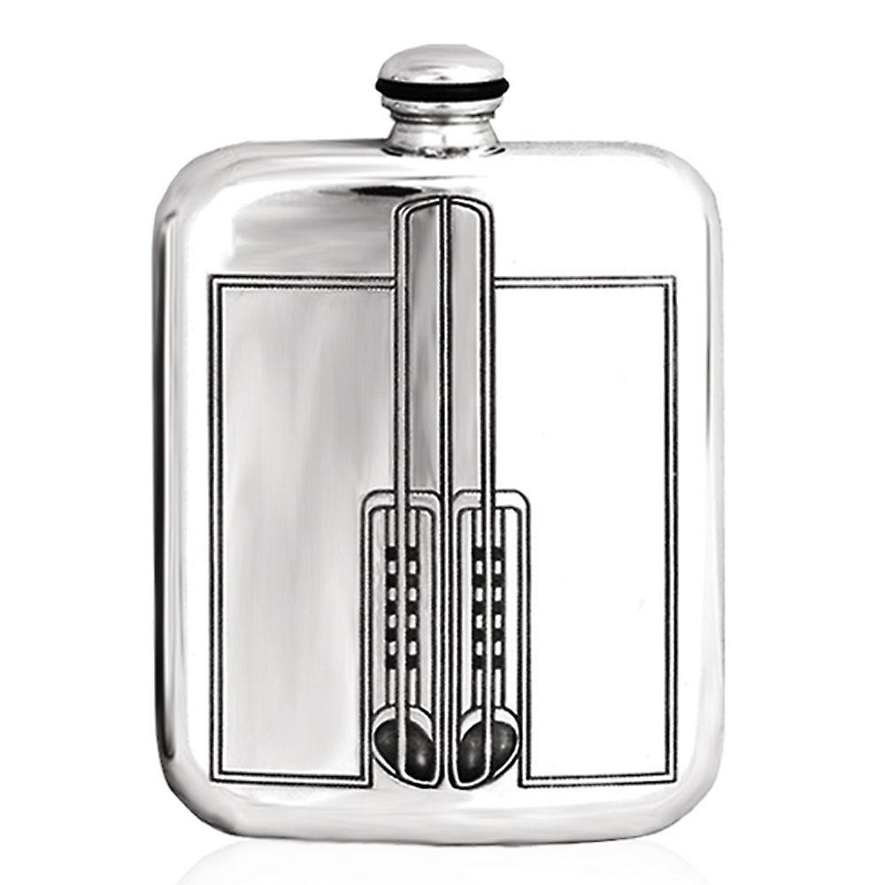 6oz Mackintosh Stamped Flask Pewter - Crm432