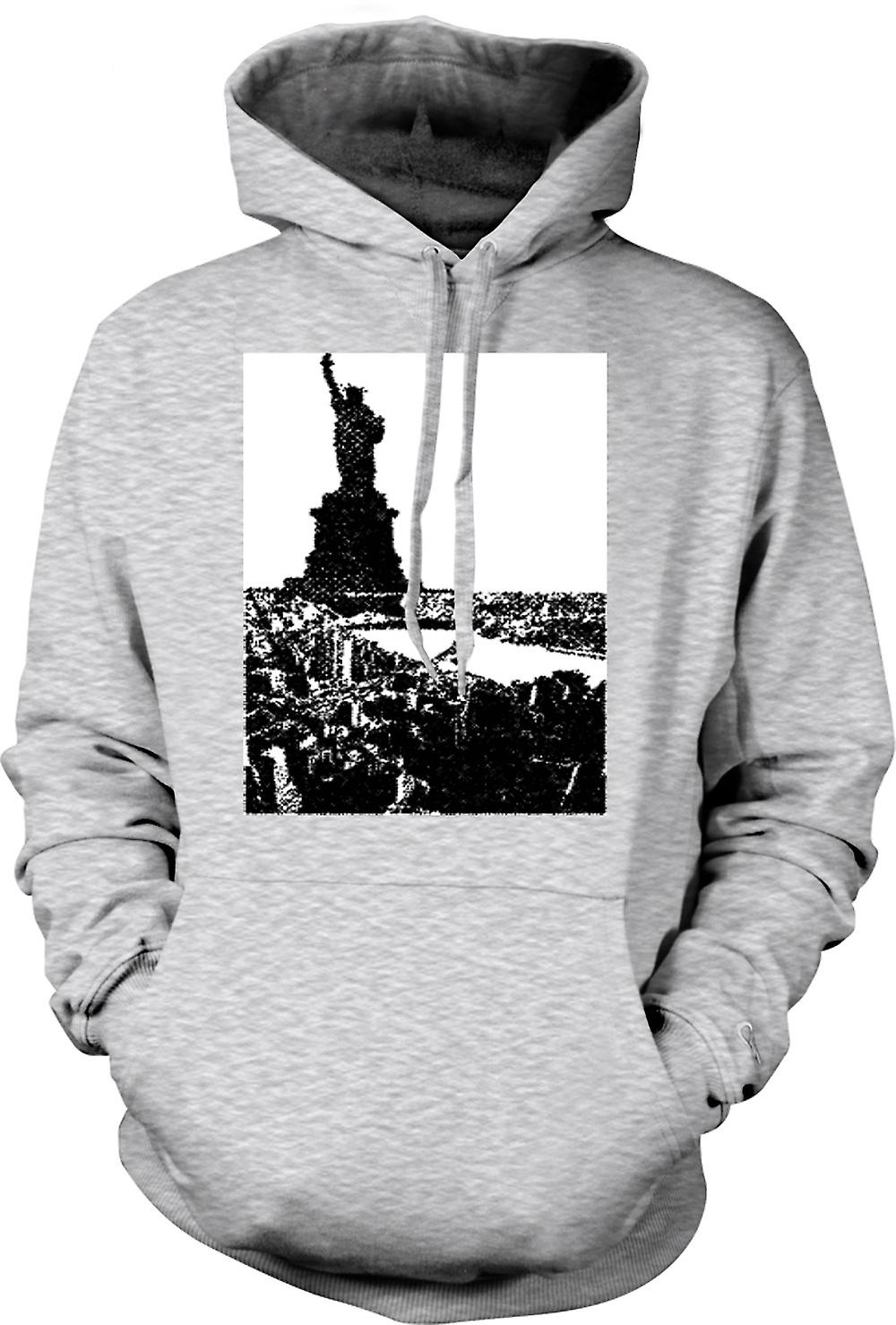Mens Hoodie - USA Statue of Liberty Art