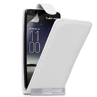 YouSave Accessories LG G Flex LeatherEffect Flip Case White