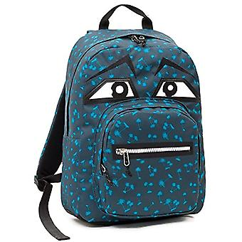 Invicta Round Backpack - Ollie Face Yap - Blue Grey - 25Lt - School & Leisure