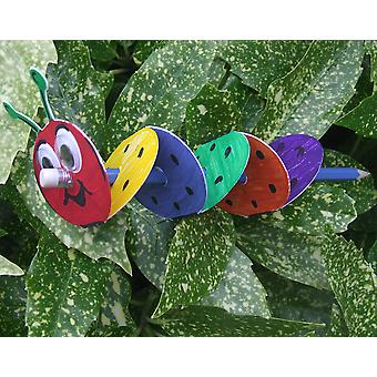100 Pencil Caterpillar Card Blanks to Decorate   Kids Insect & Bug Crafts