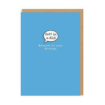 Ohh Deer Don't Be A Dick Enamel Pin Greeting Card