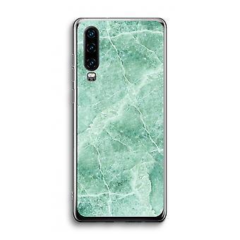 Huawei p30 transparente caso-mármore verde