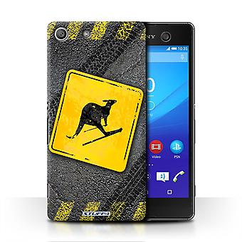 STUFF4 Case/Cover for Sony Xperia M5/Skiing Kangaroo/Funny Road Signs