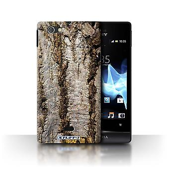 STUFF4 Case/Cover for Sony Xperia Miro/ST23I/Aged/Tree Bark
