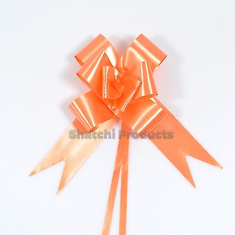 30pcs of 30mm ORANGE Pull Bows, Wedding Anniversary Floral Tributes bouquets Gift decoration