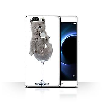 STUFF4 Case/Cover for Huawei Honor V8/Wine Glass/Cute Kittens