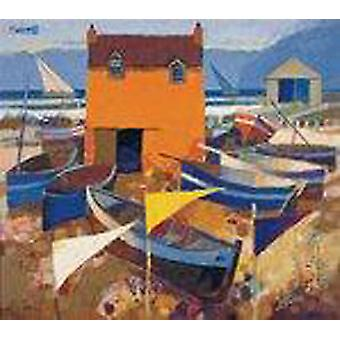 George Birrell print - Boats and Marker Flags