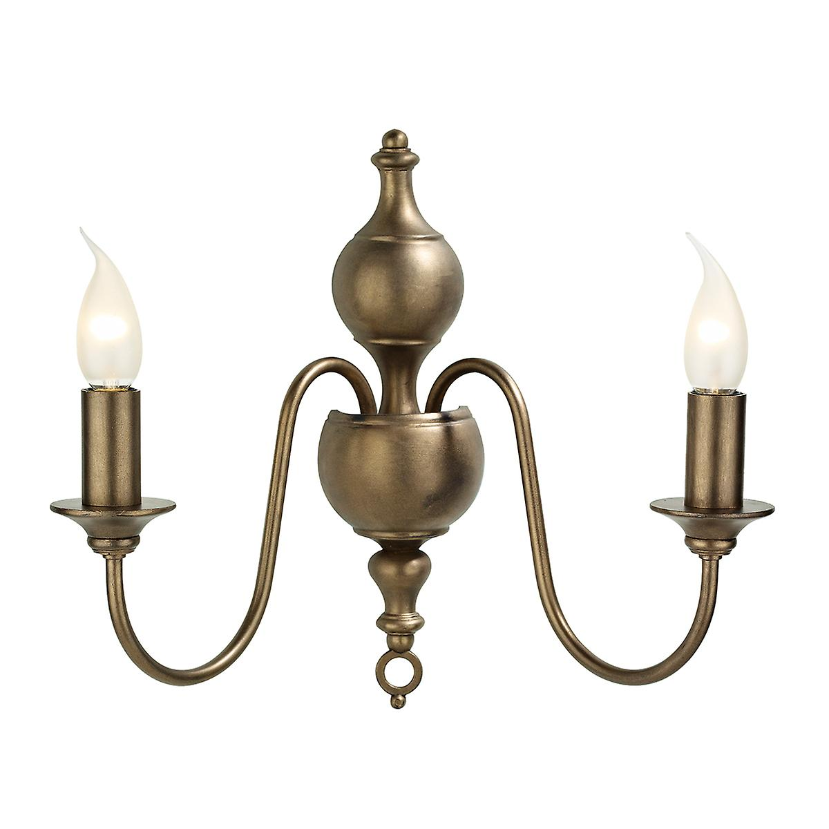 David Hunt FLE0963 Flemish Double Wall Bracket In A Bronze Finish