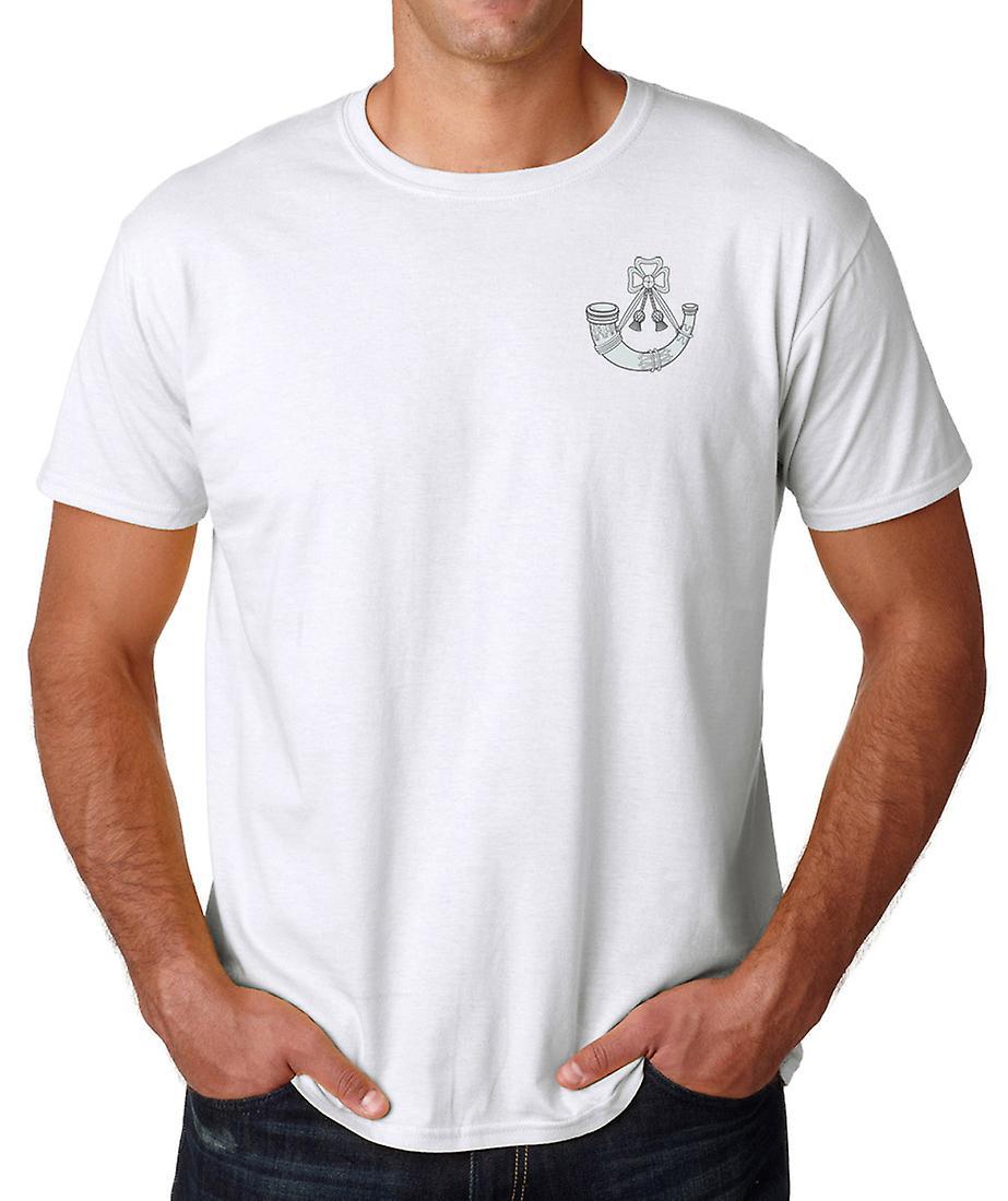 De lichte infanterie geborduurd Logo - officiële Britse leger Ringspun katoen T Shirt