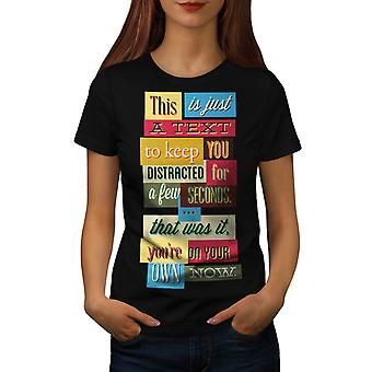 Text Distraction USA Lonesome Women Black T-shirt | Wellcoda
