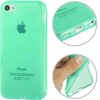 Mobile case TPU case for mobile phone Apple iPhone 5 C Green