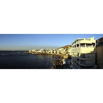 Buildings at the waterfront Bantry Bay Cape Town Western Cape Province South Africa Poster Print
