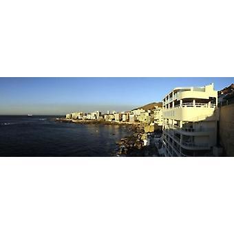 バントリー湾岬町西ケープ州南アフリカ共和国ポスター印刷ウォーター フロントの建物