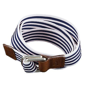 GOLF belts belts men's belts textile belt with double ring patterned blue 3492