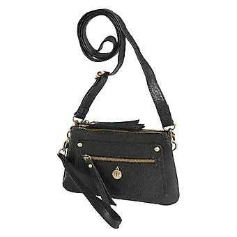 Dr Amsterdam Grain shoulder bag Black
