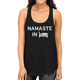 Namaste In Bed Tank Top Yoga Work Out Tank Top Cute Yoga Racerback
