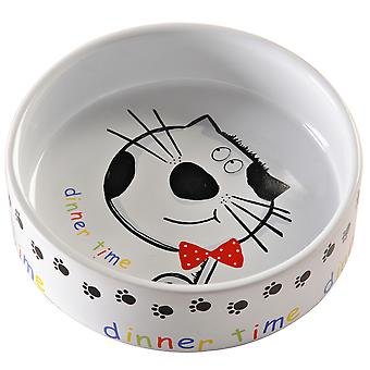 Mason Cash middag tid katt skål 14 X4cm