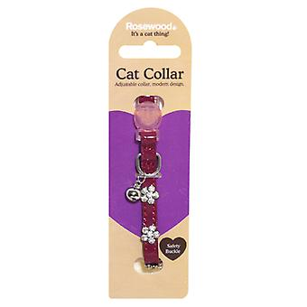 Catwalk Designer Cat Collar Damson (Pack of 3)