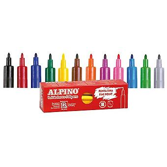 Alpino Box 12 pens Verde (Kids , School supplies , Writting and coloring , To colour)