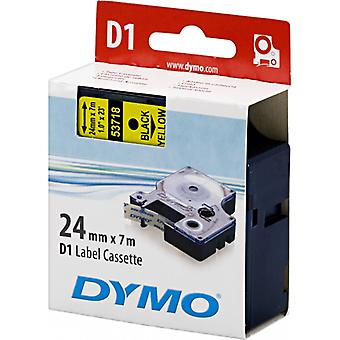 DYMO D1 tapes standard 24 mm, black on yellow, 7 m roll