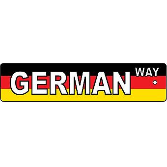 German Way Street Sign Car Air Freshener