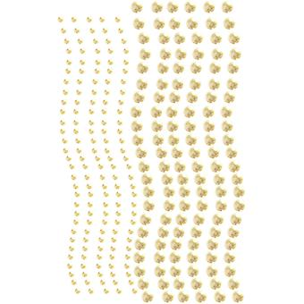 Want2Scrap Self-Adhesive Round Bling 3mm & 6mm 250/Pkg-White Pearls W2S250-16