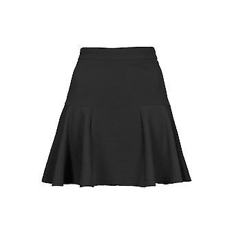 Topshop Black Ribbed Hip Skater Skirt SK214-8