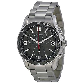 Swiss Army Victorinox Chrono Classic Stainless Steel Chronograph Mens Watch 241656