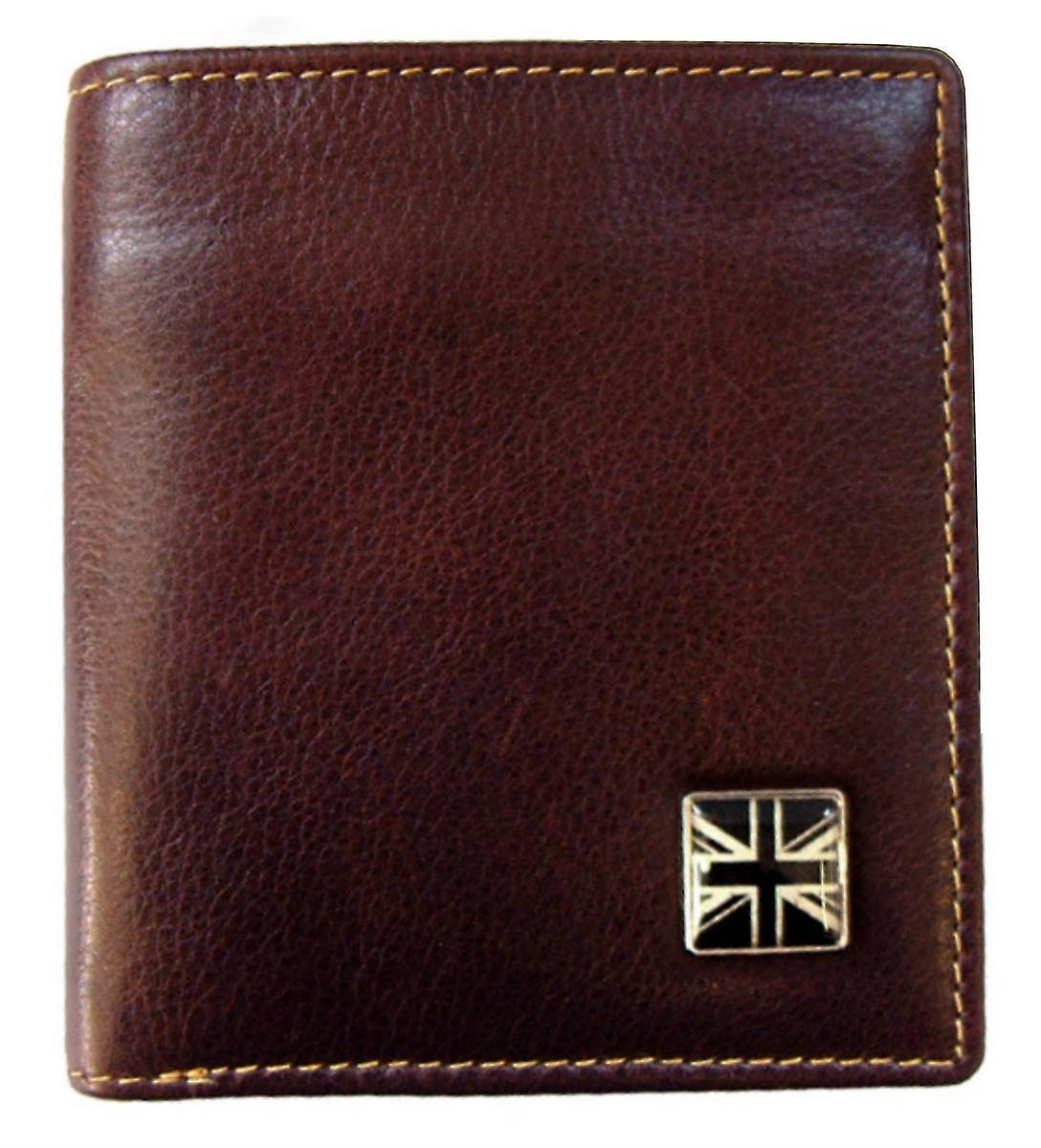 Tyler and Tyler Leather Union Jack Jeans Wallet  - Brown