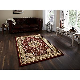 Heritage 4400 Red Red background with a complimentary beige boarder Circle Rugs Traditional Rugs